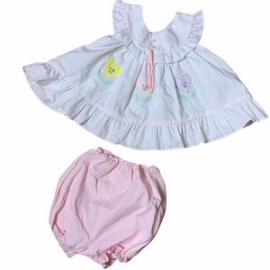 Vintage baby doll dress and bloomers